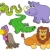 sorridente · hipopótamo · ilustração · animal · desenho · animado · violeta - foto stock © clairev