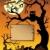 scène · halloween · arbre · art · oiseau · nuit - photo stock © clairev
