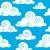 シームレス · 雲 · 芸術 · 雲 · グラフィック · 漫画 - ストックフォト © clairev