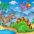 panorama · dinosauri · colore · illustrazione · acqua · arte - foto d'archivio © clairev