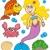 水生の · 動物 · 幸せ · 海 - ストックフォト © clairev