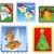 Various Christmas post stamps 1 stock photo © clairev