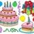 bolos · doces · ícones · casamento · festa · design - foto stock © clairev