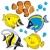 vecteur · coloré · animaux · marins · eau · yeux · design - photo stock © clairev