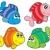 animaux · marins · quatre · subaquatique · illustration · poissons · mer - photo stock © clairev
