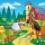 karikatür · kırsal · sahne · çiftlik · hayvanları · örnek · grup · çocuklar - stok fotoğraf © clairev
