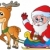 Santa Claus with sledge and deer stock photo © clairev