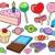 gyűjtemény · édesség · vektor · papír · étel · buli - stock fotó © clairev