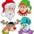 christmas faces collection 2 stock photo © clairev