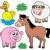 Farm animals collection 5 stock photo © clairev