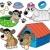 bonitinho · cães · coleção · projeto · animais · cor - foto stock © clairev