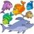 szett · színek · trópusi · halfajok · vektor · akvárium - stock fotó © clairev