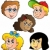 various children faces collection stock photo © clairev