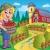 фермер · сцена · иллюстрация · улыбка · трава - Сток-фото © clairev