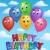 balonlar · mutlu · yıllar · imzalamak · parlak · renk · kelime - stok fotoğraf © clairev