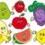 漫画 · 果物 · コレクション · 葉 · フルーツ · 健康 - ストックフォト © clairev