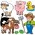 varken · schapen · huisdieren · ingesteld · vector - stockfoto © clairev