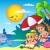 nino · nina · delfines · mar · Cartoon · playa - foto stock © clairev