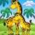 zürafa · Afrika · manzara · ağaç · gün · batımı · doğa - stok fotoğraf © clairev