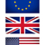 eu uk usa flag vignetted illustration stock photo © claudiodivizia
