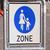 gyalogos · kép · város · utca · felirat · kék - stock fotó © claudiodivizia