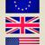 retro look eu uk usa flag vignetted illustration stock photo © claudiodivizia