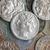 Romeinse · munt · oude · zwarte · geld - stockfoto © claudiodivizia