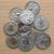 Romeinse · munten · oude · zwarte · geld · achtergrond - stockfoto © claudiodivizia