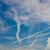 uçak · duman · karanlık · beyaz · mavi · gökyüzü - stok fotoğraf © claudiodivizia
