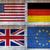 amerikai · zászló · beton · kilátás · sötét · háttér · felirat - stock fotó © claudiodivizia