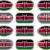 12 · botões · bandeira · Quênia · doze - foto stock © clearviewstock