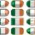 12 · botões · bandeira · Irlanda · doze - foto stock © clearviewstock