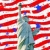 statue liberty stars stripes for 4th july stock photo © clearviewstock