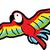 tropische · Geel · papegaai · groene · vleugels · vergadering - stockfoto © clipartmascots