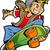 笑みを浮かべて · 代 · スケート · 極端な · ジャンプ - ストックフォト © clipartmascots
