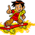 skateboarder on fire stock photo © clipartmascots