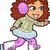 вьющиеся · волосы · брюнетка · девушки · характер · иллюстрация · фон - Сток-фото © clipartmascots