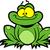 sevimli · mutlu · gülen · yeşil · kurbağa · karikatür - stok fotoğraf © clipartmascots