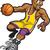 少年 · バスケットボール · 幸せ · 笑みを浮かべて · スポーツ - ストックフォト © clipartmascots