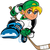 Anime Manga Hockey Player stock photo © ClipArtMascots