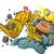 rajz · buldózer · karakter · építkezés · jármű · rajzfilmfigura - stock fotó © clipartmascots