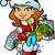 mikulás · lány · vásárlás · karácsony · ajándékok · tart - stock fotó © clipartmascots