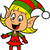 lány · karácsony · manó · boldog · mosolyog · szőke · nő - stock fotó © ClipArtMascots