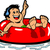 Boy Floating Inner Tube stock photo © ClipArtMascots