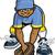 ハンサム · 黒 · 代 · インテリジェント · 民族 - ストックフォト © clipartmascots