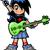 かなり · 少女 · ギター · クール · 十代の少女 · ミュージシャン - ストックフォト © clipartmascots