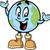 ontdekkingsreiziger · glimlachend · gelukkig · cartoon · permanente - stockfoto © clipartmascots