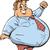 漫画 · 男 · 過食 · 実例 · 食べ · ピザ - ストックフォト © clipartmascots