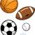 sportfelszerelés · golyók · illusztráció · háttér · művészet · asztal - stock fotó © clipartmascots