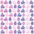Pasqua · pattern · uova · coniglio · vettore · senza · soluzione · di · continuità - foto d'archivio © Coffeechocolates
